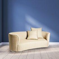 Canapé 3 places 190x74x90 cm en tissu beige