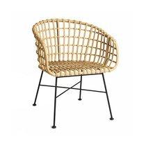 Chaise 65x63x78 cm imitation osier naturel