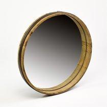 Miroir rond 45 cm en bois naturel
