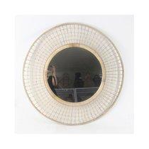Miroir rond 90 cm en bambou naturel