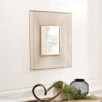 Miroir carré 65 cm en métal doré - RORY