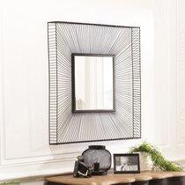 Miroir carré 90 cm en métal noir - RORY
