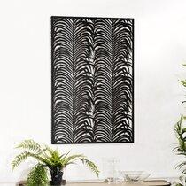 Décoration murale 68x100 cm en métal noir - RORY