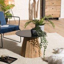 Table d'appoint ronde 60x43 cm en pin recyclé - DANOS
