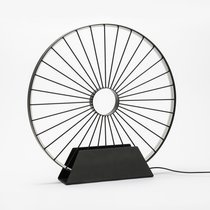 Lampe de table led en forme de roue de vélo 50x50 cm