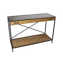 Présentoir industriel 123x50x84 cm en bois et métal