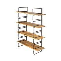 Etagère modulable 4 niveaux en manguier et métal