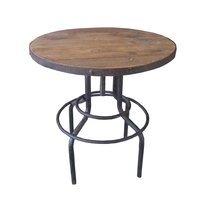 Table de bar ronde 65x69/86 cm en bois et métal
