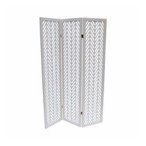 Paravent 3 volets 150x170 cm en pin blanc