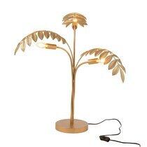 Lampe à poser palmier 51,5x64x70 cm en zinc doré