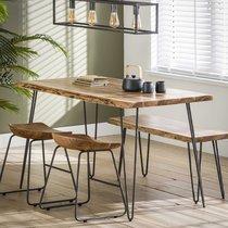 Table à manger 130 cm en acacia massif - ALONG