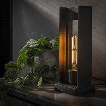 Lampe de table forme en H 13x13x37 cm en métal noir