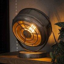 Lampe de table vintage 29x20x33 cm en métal finition argent vieilli