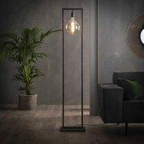 Lampadaire 34x23x166 cm en métal finition argent vieilli