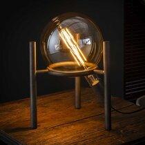 Lampe de table 28x28x34 cm en métal finition argent vieilli - NEPTUNE