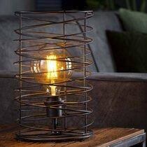 Lampe de table ronde 22x36 cm en métal gris foncé - SPARY