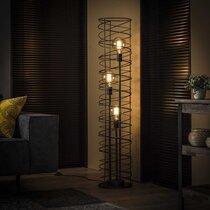 Lampadaire rond 3 lampes 28x140 cm en métal gris foncé - SPARY
