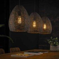 Suspension 3 lampes 26 cm en métal noir - HEDEL