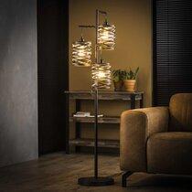 Lampadaire 3 lampes 37x29x150 cm en métal gris foncé - ZIGGY