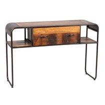 Console 1 tiroir 120x40x80 cm en bois recyclé et métal - HUNTER