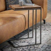 Table d'appoint 35x45x62 cm en bois recyclé et métal gris