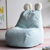 Pouf pour enfant 40x62x70cm en tissu bleu clair
