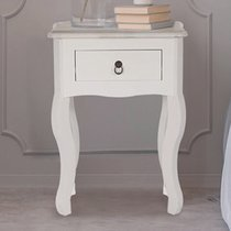 Chevet 1 tiroir 40x30x56 cm en bois blanc