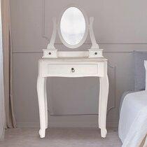 Coiffeuse 65x36x125 cm en bois blanc