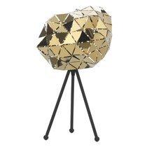 Lampe de table à facettes 25x40 cm en métal doré