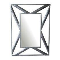 Miroir design 60x80 cm en métal noir