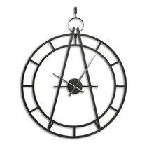 Horloge ronde 86,5 cm en métal noir