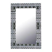 Miroir rectangulaire 40x60 cm avec décor noir et blanc