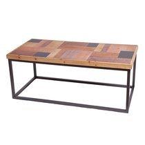 Table basse 100x50x40 cm en sapin multicolore et métal - WESTHY