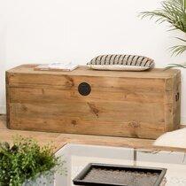 Coffre de rangement 130x48x45 cm en pin recyclé - GLAYNE