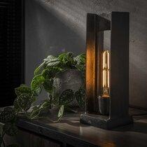 Lampe de table forme en H 13x13x37 cm en métal noir - AMP