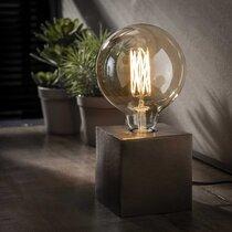 Lampe de table piétement block 10x10x10 cm noir - AMP