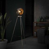 Lampadaire vintage 50x50x133 cm en métal argent vieilli - AMP