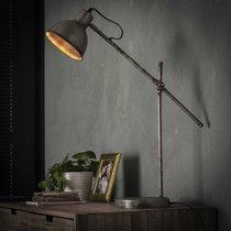 Lampe de table industrielle 21x53x67 cm en métal argent vieilli - AMP