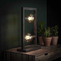 Lampe à poser industrielle 34x15x55 cm en métal argent vieilli - AMP