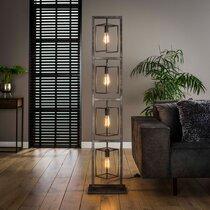 Lampadaire 4 lampes 34x24x160 cm en métal fintion argent vieilli