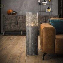 Lampadaire 25x90 cm en métal effet béton gris