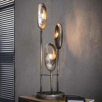 Lampe de table 3 lampes 21x21x69 cm en métal fintion argent - OPENY