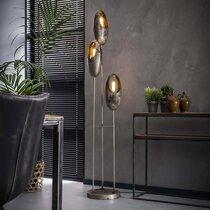 Lampadaire 3 lampes 31x31x170 cm en métal finition argent - OPENY