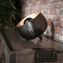 Lampe de table avec reflecteur 28x28x26 cm en métal noir