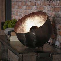 Lampe de table avec reflecteur 36x36x35 cm en métal noir