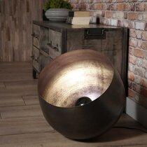 Lampe de table avec reflecteur 46x46x46 cm en métal noir