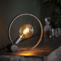 Lampe de table industrielle 31x10x31 cm en métal fintion argent