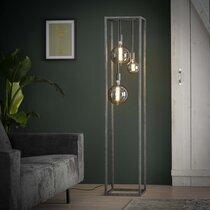 Lampadaire design 3 lampes 35x170 cm en métal finition argent