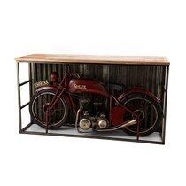 Table de bar moto 189 cm en manguier et métal - ROAD