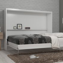 Lit escamotable 140x200 cm blanc - BELAJA